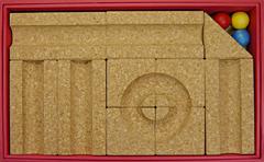 コルク積み木玉ころころ箱の中身