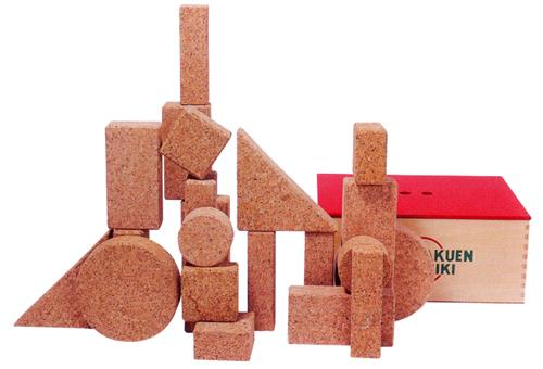 自由学園工芸研究所コルク積み木木箱入り