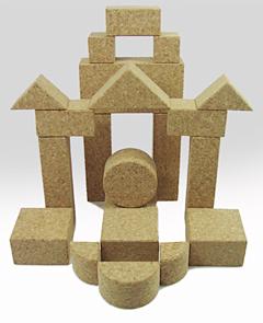コルク積み木MIX組立て例城